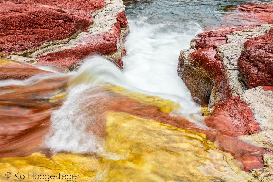 Canada 2016  Waterton Lakes, Red rock Canyon